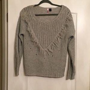 Love By Design Fringe Knit Sweater